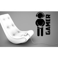 Gamer  Xbox PS Wii Fan  Bedroom Decal Wall Art Sticker Picture G12 - Wii Gifts