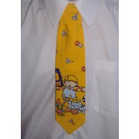 Boys Yellow Bob the Builder Tie  Pretied elasticated - Bob The Builder Gifts