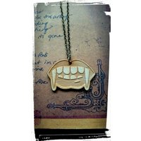 True Blood Inspired Wooden Vampire Mouth Necklace - Vampire Gifts