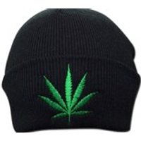 Unisex Weed Leaf Cannabis Clothing Embroidered Marijuana Hat Beanie  One Size  Winter Hat Weed Smokers - Cannabis Gifts