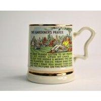 1950s Prince William Mug The Gardeners Prayer Warranted 22 Carat Gold Vintage Tableware Gardening Present - Gardening Gifts