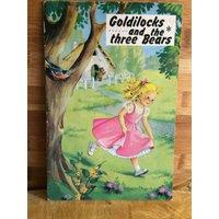 Goldilocks and the three bears  fairy tale  1960s goldilocks  teddy bears  vintage fairy story  kawaii altered art  kitsch scrapbook - Teddy Bears Gifts