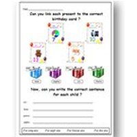BIRTHDAY FRENCH WORKSHEET/ Matching and Writing Activities French Learning / Language Printable For Primary / Educational Resources - Educational Gifts