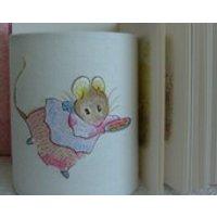Beatrix Potter Mrs Titlemouse Embroidered Handmade Nursery Night Light. - Beatrix Potter Gifts