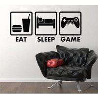Eat Sleep Game Xbox Ps Wii fans Bedroom Decal Wall Sticker Picture Murals G2 - Wii Gifts