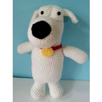 Crochet Brian  Family guy  Stewie  Soft toys  Gifts for big kids  Knitted Dog - Family Guy Gifts