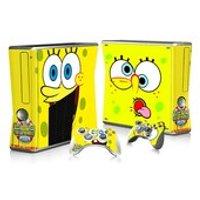 Spongebob Squarepants Xbox 360 Slim Console Skin Sticker decal  2 controller Vinyl - Spongebob Squarepants Gifts