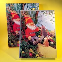 Vintage Puzzle  Gnome Jigsaw Puzzle  1970s  12 Piece Puzzle  Made In Holland - Jigsaw Gifts