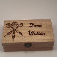 Personalised Wooden Darts Case - Darts Gifts