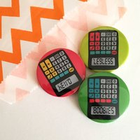 Cheeky Geek Calculator badges, Stocking Stuffer, lapel pin, Gift for her, Flair, party bag fillers, party favours, boobies, back to school - Seek Gifts