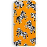 iPhone 7 Case, iPhone 7 Cover, Zebra iPhone 7 Case, Orange Phone Case, Zebra Phone Case, Animal Lover Gift, Protective iPhone 7, New iPhone - Zebra Gifts