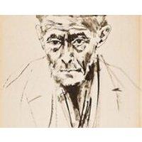 MOSHE GAT  large original vintage pen  ink drawing  c1960s (important 20th Century Israeli artist) - Artist Gifts