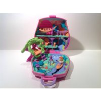 Rare Polly Pocket Pollys Jungle Adventure Vacation Fun Play Set. 1996. 99% Complete! Retro Polly Pocket Compact Play Set. Vintage Toys. - Polly Pocket Gifts