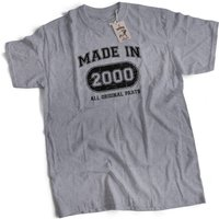 Made In 2000 All Original Parts 16th Birthday Present Mens Premium TShirt Choice of 12 Colours in Sizes Small to 2X Large - 16th Birthday Gifts