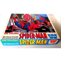 1976 The AMAZING SPIDERMAN Jigsaw Puzzle. Vintage Marvel Comics Super Hero 180 Piece Whitman Puzzle Retro Rare Collectible. Good Condition. - Jigsaw Puzzle Gifts