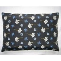 Floral Black Cushion - Floral Gifts