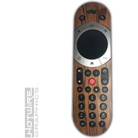 Wood Grain Style Vinyl Sky Q TOUCH Remote Control Sticker Skin Kit (Woodgrain) - Remote Control Gifts
