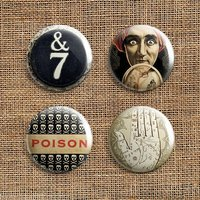 Set Of 4 Dark Journey Pinback Button Badges (DJ) - Dj Gifts