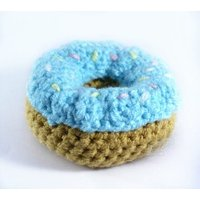 Crocheted Donut  Play food  Nursery  Preschool  Educational Toys Learning  Teething  Games  Childrens  Toddler  doughnut - Educational Gifts