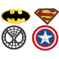 Superheroes Patch Embroidered Patches Iron On Spider Man Patches for jackets Badge Captain America Patches for jeans Batman Applique - Spider Man Gifts