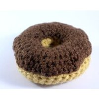 Crocheted Donut  Play food  Educational toys Games  Preschool  Nursery  Teething  Learning  Childrens  Toddler  Home school - Educational Gifts