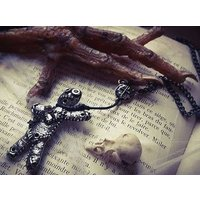 Voodoo doll  pendant   (with holes  stake) - Voodoo Doll Gifts