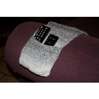 Grey Remote Control Holder, Knitted Remote Caddy, Sofa Organiser Pockets - Remote Control Gifts
