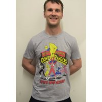 Power Rangers Morph Into Action Official Mens Tshirt (Heather Grey) MMPR Mighty Morphin Power Rangers - Morph Gifts