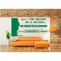 Bob Marley Quote, Herb is the Healing of a Nation Vinyl Wall Art Sticker, Mural, Decal. Home, Wall Decor - Bob Marley Gifts