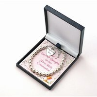 Personalised First Holy Communion Bracelet with Gift Card for Daughter, Goddaughter, etc - First Holy Communion Gifts