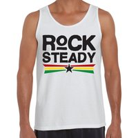 Rock Steady Mens Vest Tank Top  Bob Marley Jamaica Reggae - Bob Marley Gifts