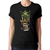 Jah King of Kings Womens T Shirt  Jamaica Haile Selassie Bob Marley Reggae Rasta - Bob Marley Gifts