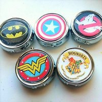 Geek Inspired Pill Box, Personalized Pill Box, Custom Pill Box, Gifts for Her, Bridesmaid Gift, Trinket Box Storage, - Custom Gifts