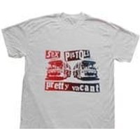 Punk Tshirt  PRETTY VACANT  Sex Pistols  Boredom  Nowhere Buses Inside Out Shirt - Sex Pistols Gifts