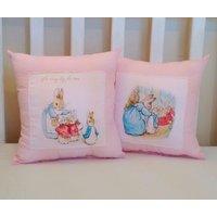 Pink Beatrix potter cushions set - Beatrix Potter Gifts