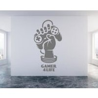 Gamer 4 Life, Playstation, Xbox, Wii,  Wall Sticker Decal Art. Any colour and a choice of sizes.(145) - Wii Gifts
