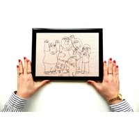 Stitched Up! Family Guy  The Griffin Family  Framed A4 Embroidery Art - Family Guy Gifts