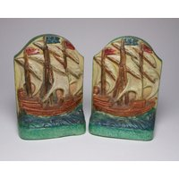 Compton Pottery Arts and Crafts galleon bookends, circa 1910 - Arts And Crafts Gifts