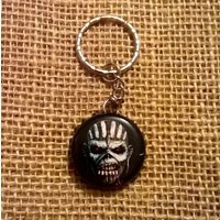 Upcycled Trooper Ale bottle cap keyring  Eddie the Head from Iron Maiden - Iron Maiden Gifts