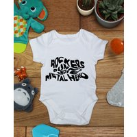 Rockers punks  indie metal head baby vest boys girls grow, Little Hippo, Bodysuit, Hippy, Printed Babies Wear Clothing, Made To Order - Hippo Gifts