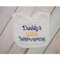 Daddys little Wolverine  University of Michigan Baby Bib  Wolverine Baby Boy   Michigan Wolverine Baby Girl  Baby Shower Gift  New Dad - Wolverine Gifts