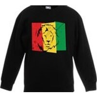 Lion of Judah Flag Unisex Kids Childrens Jumper Sweatshirt  Reggae Rasta Bob Marley Rastafari Jamaica Rastafarian Jamaican - Bob Marley Gifts