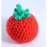 Crocheted Tomato  Play Food  Educational Toys Learning Games  Preschool  Nursery  Toddler  Baby  Childrens  Teething  Learning - Educational Gifts