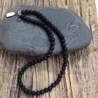sterling silver and lava necklace yoga gift aromatherapy  diffuser  necklace natural stone necklace - Aromatherapy Gifts