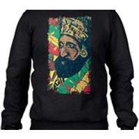 Haile Sellasie Mens Sweatshirt Jumper  Rasta Reggae Jah Rastafari Bob Marley Rastafarian - Bob Marley Gifts
