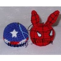 Super Hero Style Key Rings, Hand Crocheted Super Hero, Spider Man Style Key Chain, Super Cute, Soft Toy, Stuffed Toy - Spider Man Gifts