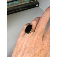 REDUCED  Antique Victorian 10k gold  onyx mourning buckle ring, Memento Mori, Sentimental, Gift, Jewelry, Jewellery, Love, Memories, Love - Sentimental Gifts