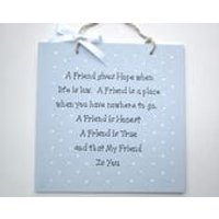 Friendship Gift  Personalised Plaque  Wall Hanging  Sentimental Gift  Gift Idea  Handmade  Hand Painted Signs  Handcrafted  Angels - Sentimental Gifts