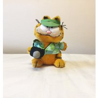 Vintage Garfield plush, tourist Garfield, vintage plush, Garfield collectible, Garfield the Cat, cuddly Garfield, 80s Garfield, cat plush - Garfield Gifts