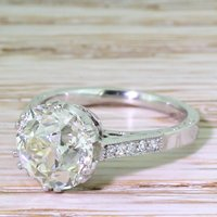 Art Deco 3.60 Carat Old Cut Diamond Engagement Ring, circa 1915 - Engagement Ring Gifts